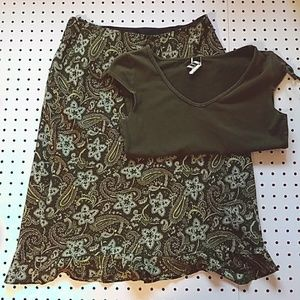 View Green Skirt and Green Shirt Bundle